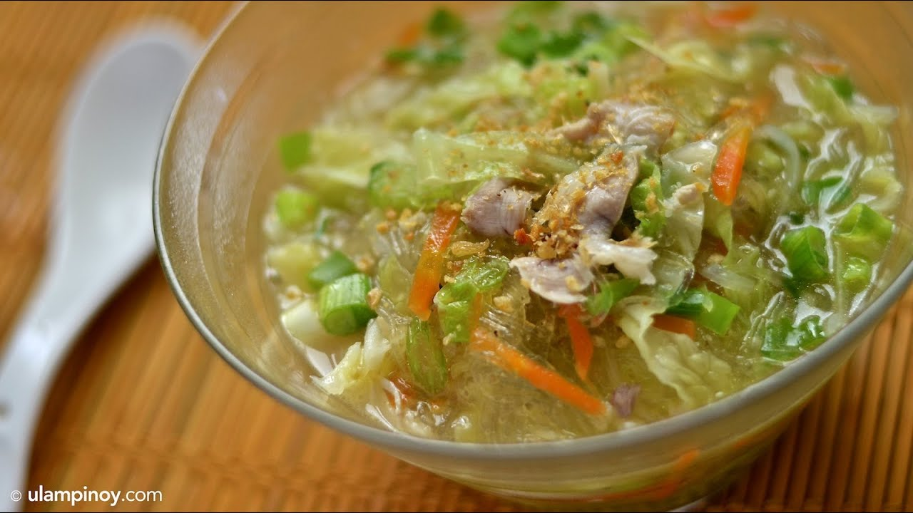 Chicken SOTANGHON (Vermicelli Chicken Noodle Soup) — Ulam