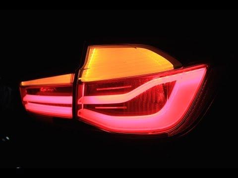 Bmw F30 Lci Led Tail Light Youtube