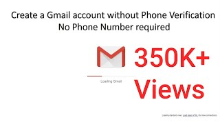 Create a gmail account without phone verification 2019