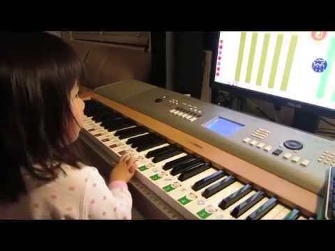 "Soft Mozart Recital: Celeste (3) plays ""Happy Birthday"" with right hand from Australia"