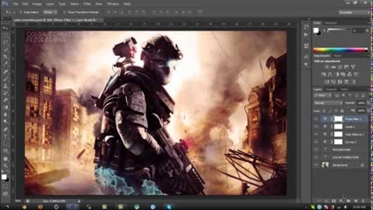Photoshop cs6 tutorial color correction youtube baditri Image collections