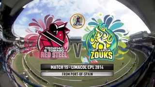Highlights Match 15: Trinidad and Tobago Red Steel V St Lucia Zouks