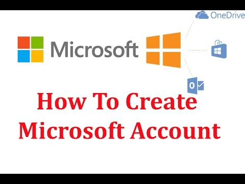 How To Create Microsoft Account 2018 - COMPUTER AND MOBILE TIPS