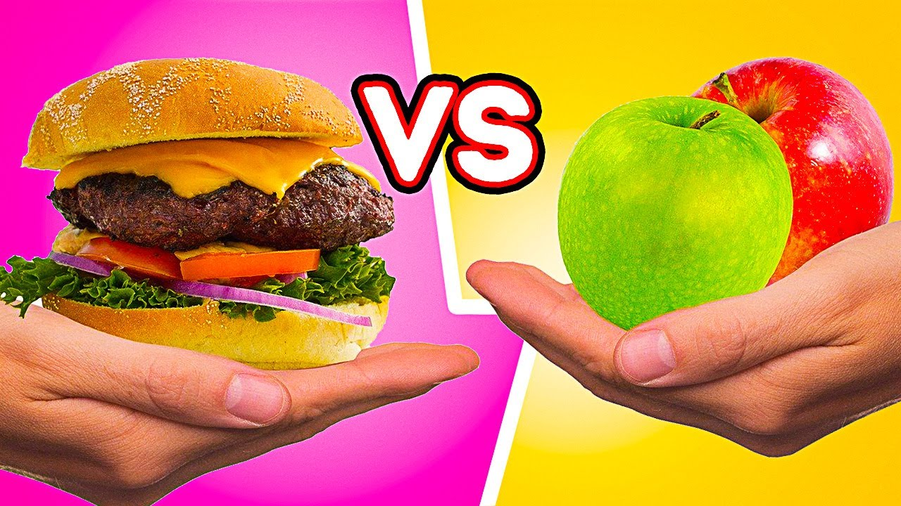 WHAT DO YOU PREFER? || Healthy Food Recipes VS Fast Food