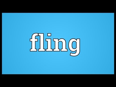 Fling Meaning