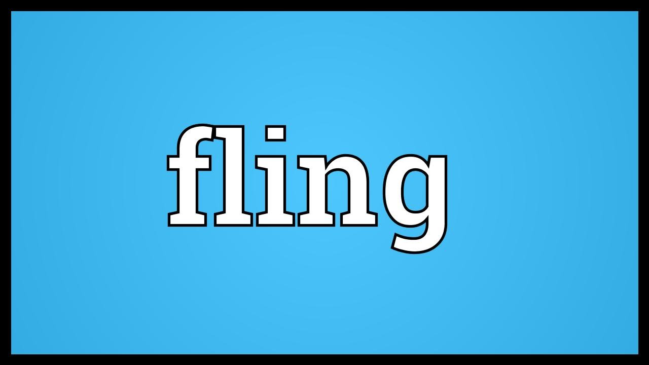 Definition of flings