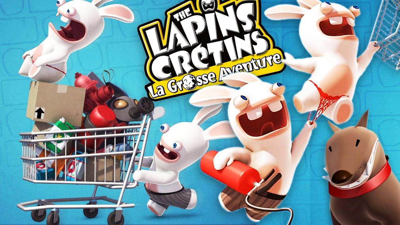 OVERDOSE DE CRÉTINERIE   The Lapins Crétins: La Grosse Aventure - YouTube