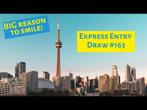 Express Entry Draw #163 : CRS Cut-off DROPS