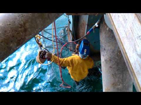 Structural Upgrade via Rope Access on Oil Platform Santa Barbara – Offshore Welder Jobs