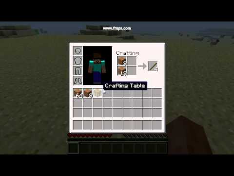 Fabrication d 39 une table a crafter dans minecraft youtube - Table d alchimie minecraft ...