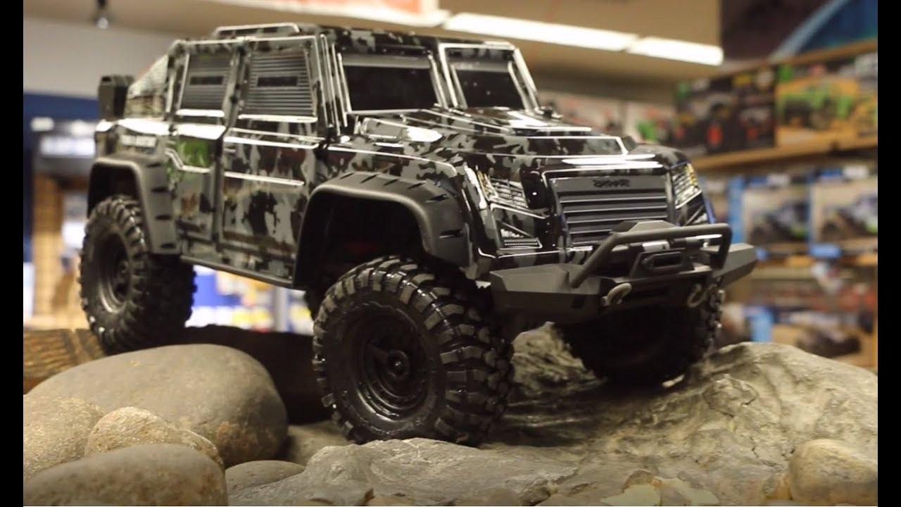 Traxxas TRX-4 Tactical Unit 1/10 Scale Crawler - Unbox & Drive