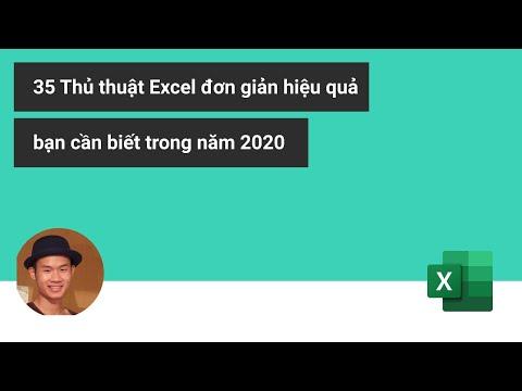 35 Thủ thuật Excel bạn cần biết trong năm 2020