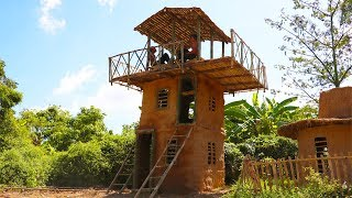 Unbelievable! Build Three - Story Villa House Using Bamboo And Mud By Ancient Skills (part 2)
