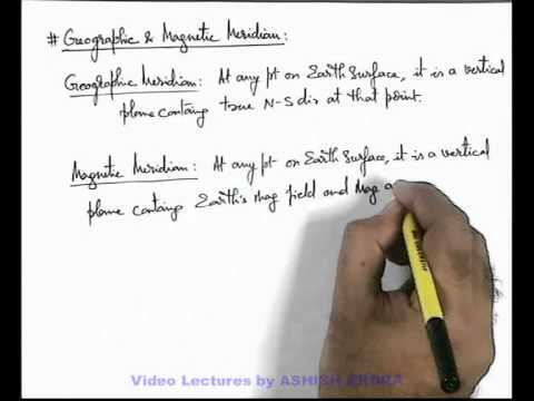 17. Physics | Terrestrial Magnetism | Geographic and Magnetic Meridian | by Ashish Arora (GA)