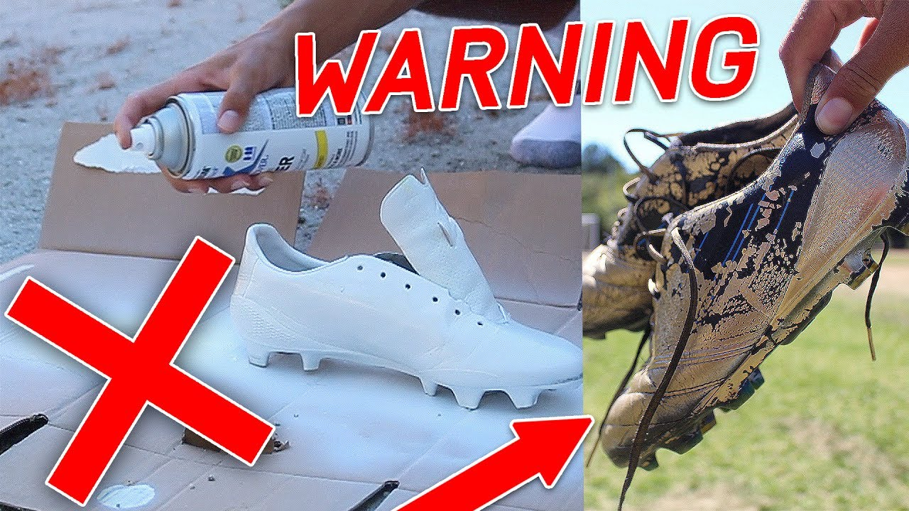 SPRAY PAINT YOUR SHOES/ CLEATS