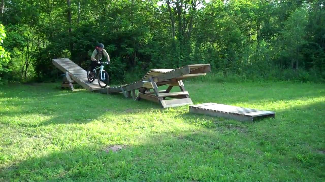 Monster mountain bike double teeter totter rangeline for Seesaw plans designs