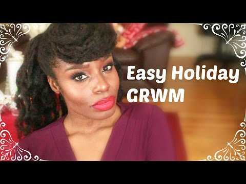 Easy And Quick Holiday Glam GRWM | Face/Hair GeraldinetheGreat
