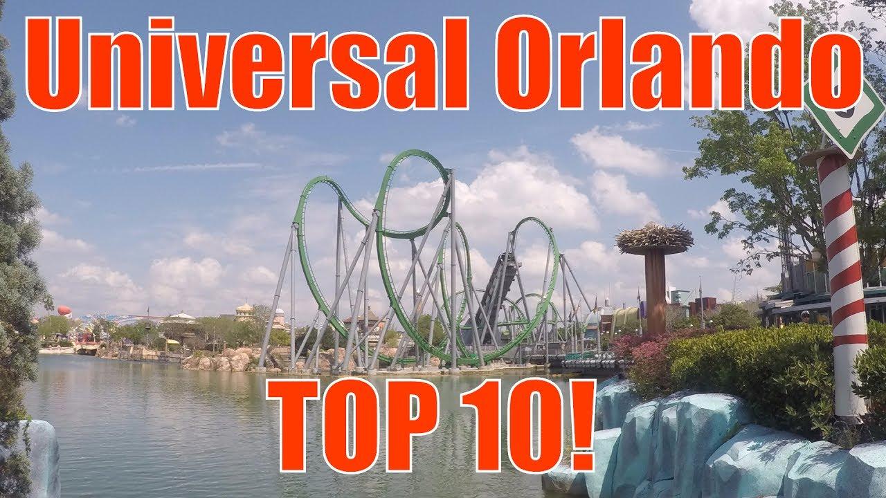 Top 10 Rides At Universal Studios Youtube