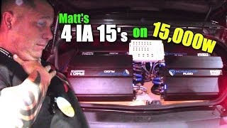 "16 Volt Car Audio System SLAMMIN BASS w/ Matts 15"" Incriminator Warden Subs & IA 40.1 Reserve Amps"