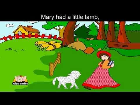 Mary had a Little Lamb Nursery Rhyme Karaoke