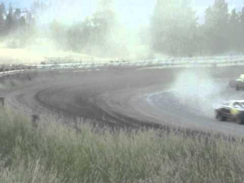Eagle Track Raceway Modified Main Event Part 6 Aug 9th 2014