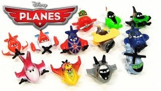 12 Disney Planes Micro Drifters Hector Vector Bravo Supercharged Dusty Crophopper