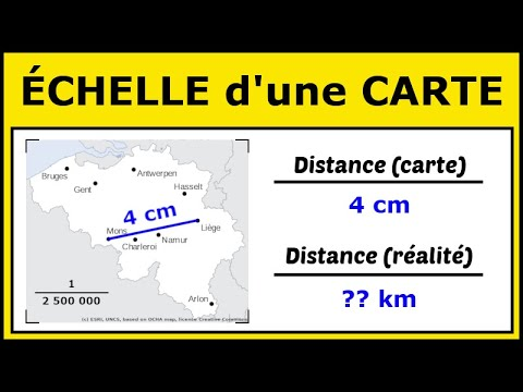 calculer une distance sur une carte Utiliser l'Échelle d'une Carte pour Calculer des Distances   YouTube