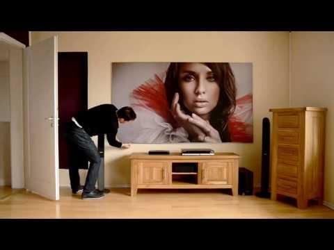 myscreen24 beamer leinwand wandbild aufbauanleitung youtube. Black Bedroom Furniture Sets. Home Design Ideas