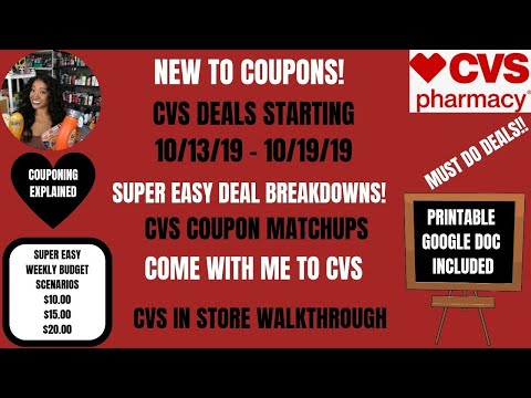 SOO EASY NEW TO COUPONS CVS DEALS STARTING 10/13/19|COUPON MATCHUPS DEAL BREAKDOWNS COME WITH ME ❤️