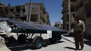Solar solution brings water to besieged Syrian town