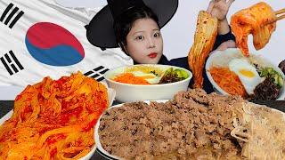 중국 참교육 먹방! 갓쓰고 한국전통음식 소불고기 2kg…
