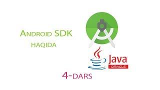 04 Android OSga dasturlar yaratish - Android SDK haqida