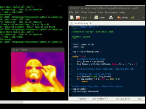 OpenCV with Lepton2 IR Sensor