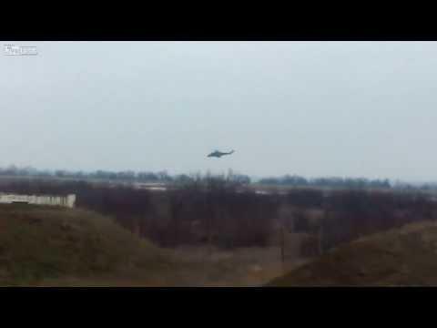 Mi-35M over airbase Ukraine's navy Novofedorivka (Saky), Crimea