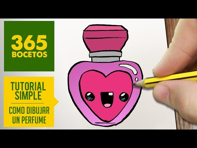 Como Dibujar Un Perfume Kawaii Paso A Paso Dibujos Kawaii Faciles