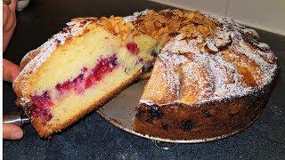 Cake aux pommes et aux fruits rouges / كيك التفاح و الفواكه الحمراء سهل و رائع