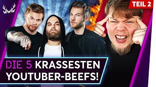 Die 5 KRASSESTEN YouTuber-Beefs! - Teil 2 | TOP 5
