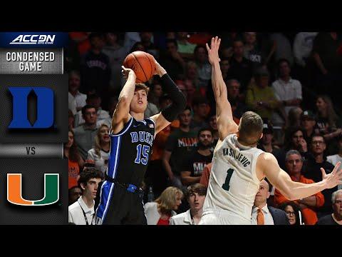 Duke vs. MiamiCondensed Game | 2019-20 ACC Men's Basketball