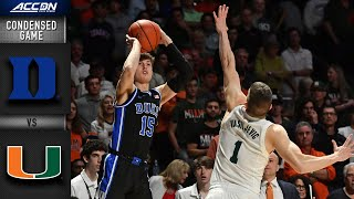 Duke vs. Miami Condensed Game | 2019-20 ACC Men's Basketball