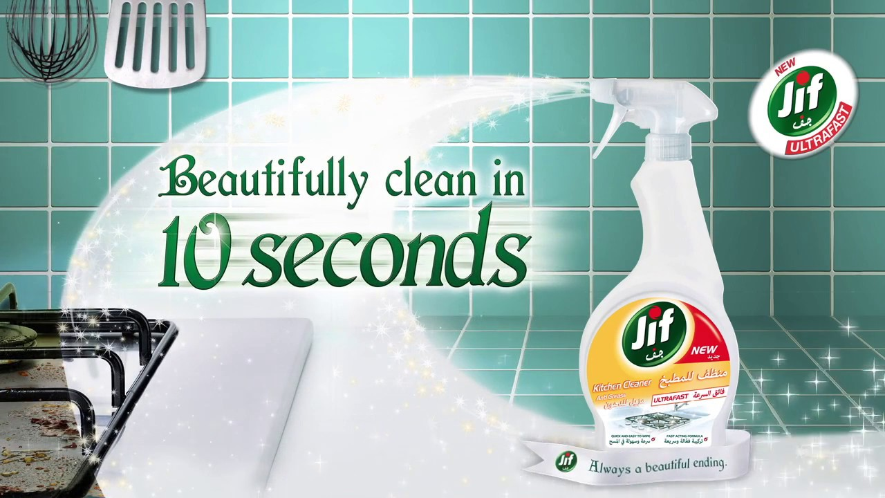 Beautifully clean results in 10 seconds with Jif Spray! - YouTube