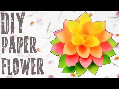 DIY Paper Dahlia Flower Tutorial | How To Make Paper Flower | Paper Craft Ideas | Crafts Hacks Video
