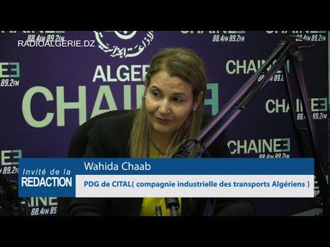 Wahida Chaab PDG de CITAL compagnie industrielle des transports Algériens