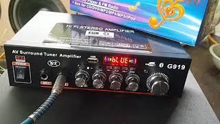 Test amply karaoke mini cho bác Nghị ở Hồ Chí Minh - amply rẻ mà hay