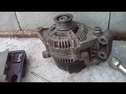 Демонтаж монтаж генератора. Opel vectra a
