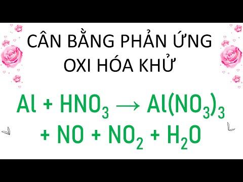 Hướng dẫn cân bằng phản ứng oxi hóa khử Al+ HNO3 tạo thành  NO + N2O