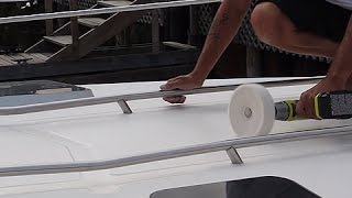 How Professionals Polish their Non-Skid Boat Decks, Without Making Them Slippery