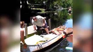 try not to laugh Funny Boat Fails - funny videos