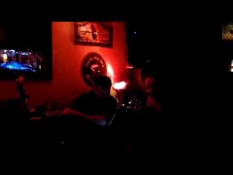 Devo fan does karaoke after Devo show during CBGB music fest 2014
