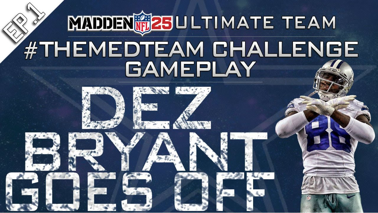 Mut25 Xbox One H2h Themedteam Dallas Cowboys Dez Bryant Best Wr In The Game