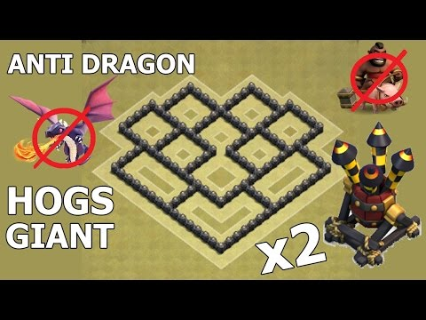 Clash Of Clans | Town Hall 6 War Base | TH6 War Base With 2 Air Defense